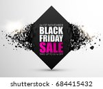 black friday sale abstract... | Shutterstock .eps vector #684415432
