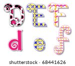 colorful 3d swirl def letters...
