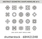 abstract geometric | Shutterstock .eps vector #684421348