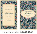 set of invitation cards with... | Shutterstock .eps vector #684425266
