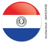 flag of paraguay circle with... | Shutterstock .eps vector #684425458