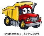 cartoon character dump tipper... | Shutterstock . vector #684428095