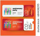 happy anniversary invitation... | Shutterstock .eps vector #684438295