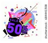 summer sale memphis style web...   Shutterstock .eps vector #684441508