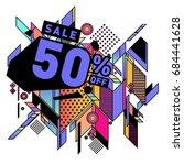 summer sale memphis style web... | Shutterstock .eps vector #684441628