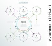 infographic template  circle... | Shutterstock .eps vector #684441646