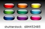set of oval multi color...   Shutterstock .eps vector #684452485