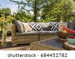Closer Shot Of A Garden Sofa...