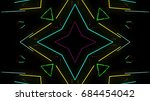 abstract laser lights | Shutterstock . vector #684454042