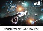 businessman on blurred... | Shutterstock . vector #684457492