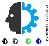 cyborg head flat vector...   Shutterstock .eps vector #684460705