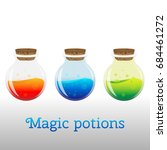 a colorful cartoon potion...