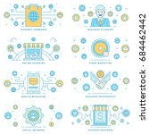 flat line illustrations and... | Shutterstock .eps vector #684462442