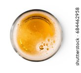beer with bubble on glass... | Shutterstock . vector #684462958