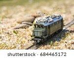 model electric locomotive in... | Shutterstock . vector #684465172