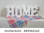 word home of the decorative... | Shutterstock . vector #684466162