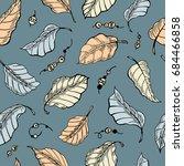 foliage seamless pattern....   Shutterstock .eps vector #684466858