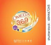 kids omega calcium and vitamin  ... | Shutterstock .eps vector #684467245