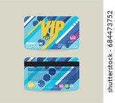 front and back vip member card... | Shutterstock .eps vector #684473752
