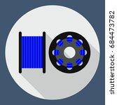 flat icon spool for 3d printer  ... | Shutterstock . vector #684473782