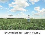 technician farmer use wifi...   Shutterstock . vector #684474352