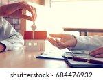 salesman home brokers provide... | Shutterstock . vector #684476932