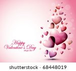 valentine background 10 | Shutterstock .eps vector #68448019
