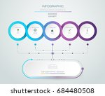 vector infographic label design ... | Shutterstock .eps vector #684480508