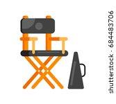 vector flat style movie... | Shutterstock .eps vector #684483706