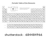 periodic table of elements.... | Shutterstock .eps vector #684484966