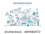performance analysis. market... | Shutterstock .eps vector #684486472