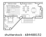 floor plan  top view. the... | Shutterstock .eps vector #684488152
