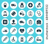 medicine icons set. collection... | Shutterstock .eps vector #684489532