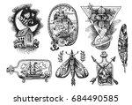 hand drawn sketch illustration. ... | Shutterstock .eps vector #684490585