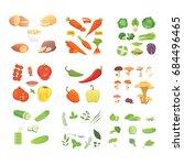 farming production  vegetables... | Shutterstock .eps vector #684496465