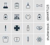 vector illustration of 16... | Shutterstock .eps vector #684497125