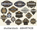 mega pack of labels and banners | Shutterstock .eps vector #684497428