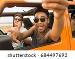 happy cheerful friends taking a ... | Shutterstock . vector #684497692