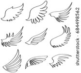 wings of an angel  black and... | Shutterstock .eps vector #684498562