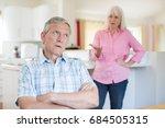 senior couple having argument... | Shutterstock . vector #684505315