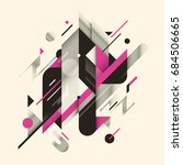 abstract composition made... | Shutterstock .eps vector #684506665