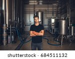 portrait of male brewer... | Shutterstock . vector #684511132