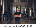 portrait of male brewer... | Shutterstock . vector #684511132