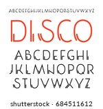 decorative sanserif font with... | Shutterstock .eps vector #684511612