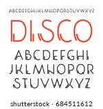 decorative sanserif font with... | Shutterstock .eps vector #684511612