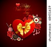Red Heart Shape Gift With...