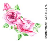 bouquet of  pink roses. rose... | Shutterstock . vector #684518176