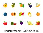 fruit harvest icon set | Shutterstock .eps vector #684520546