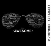 i am awesome | Shutterstock .eps vector #684526855