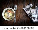 aromatic white borsch with... | Shutterstock . vector #684528532